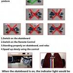 Webetop skate board  grandes roues  tlcommande et  3 modes de vitesse frein ABS lectrique 0 0