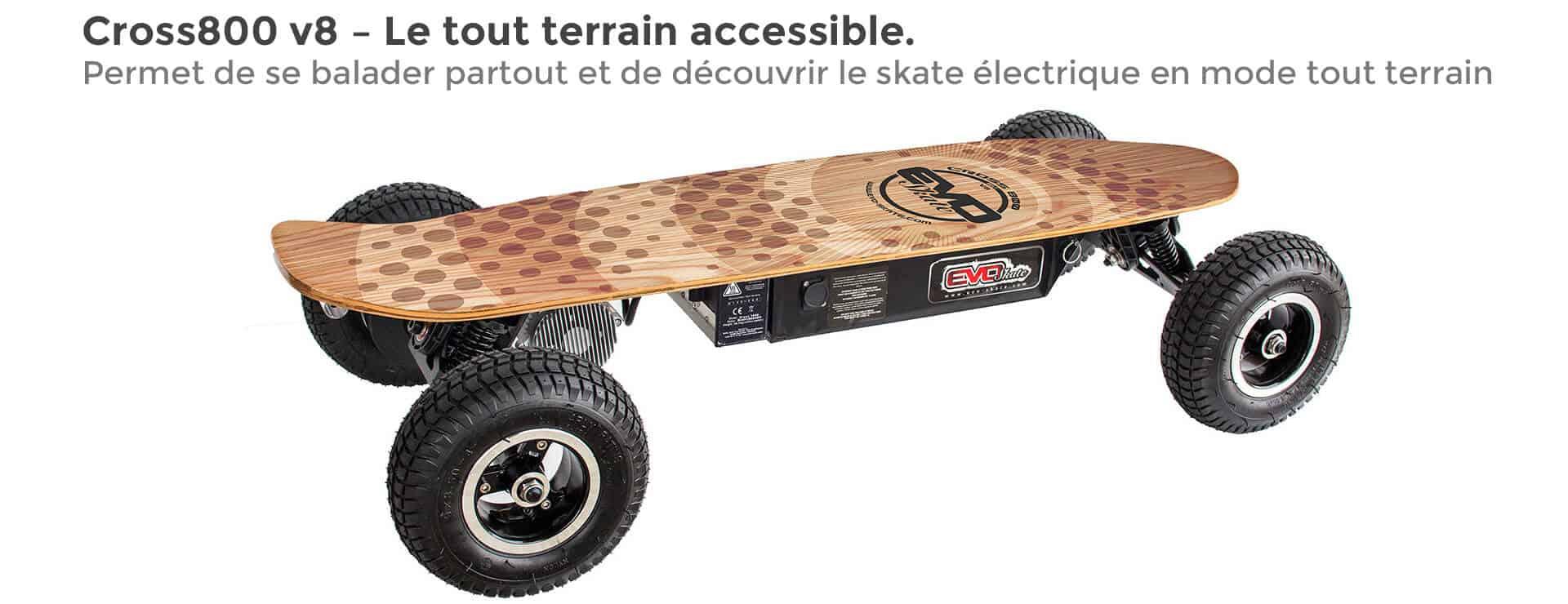 evo spirit skateboard lectrique cross800 v8 sla12 skate lectrique. Black Bedroom Furniture Sets. Home Design Ideas