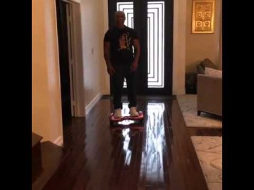 Mike Tyson gets KO'd by a hoverboard